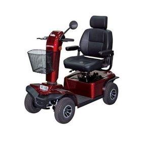 Scooter-Aruba-4-Ortomix-Vermelha-Posicionada-de-Frente