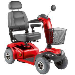 Scooter-Eletrica-Motorizada-Scott-Ottobock--Cor-Vermelha-Posicionada-de-Frente