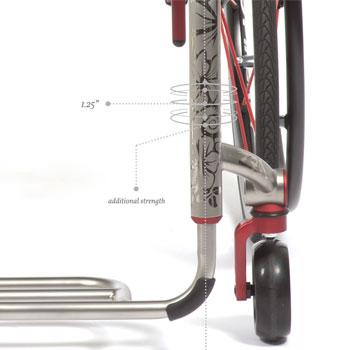 Estrutura Monotubo da Cadeira de Rodas ZRA TiLite